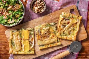 Flammkuchen mit Camembert image