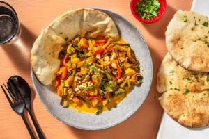 Gelbes Curry mit buntem Ofengemüse image