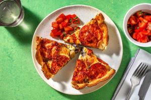 Quiche met aubergine en tomaat image