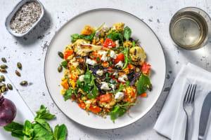 Salade de boulgour aux légumes rôtis et raisins secs image