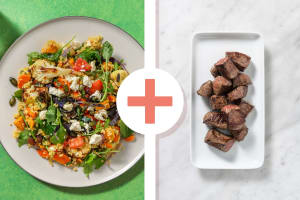Salade de boulgour et émincés de bœuf en extra image