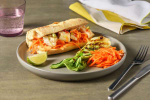 Sandwich mit gegrilltem Fisch in Sweet-Chili-Marinade image