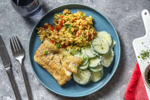 Fischfilet mit tomatigen Orzo-Nudeln image