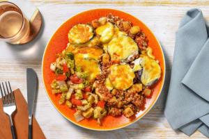 Vegetarisches Moussaka mit Linsen image