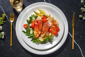 Saltimbocca de poulet et jambon serrano au vin blanc image