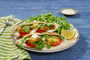 Zucchini & Feta Fritter Pita Pockets image