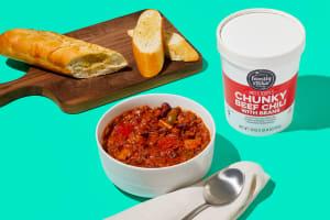 Chunky Beef Chili & Garlic Bread image