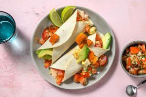 Rauchige Süßkartoffel-Hirtenkäse-Tacos image
