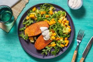 Mango-Gurken-Salat mit Ofen-Süßkartoffel image