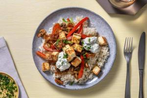 Sauté de légumes à l'orientale, halloumi et riz image