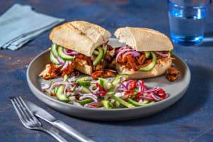 Sandwich au poulet effiloché maison image
