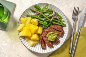 Rinderhüftsteak mit Paprika-Kräuter-Butter image