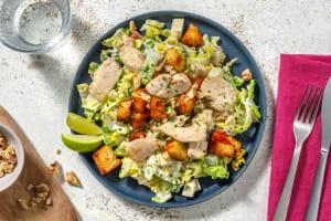 Salat nach Waldorf Art mit veganen Filetstücken image