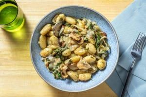 Gnocchi-Spinat-Auflauf mit Champignons image