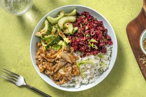 Teriyaki Bowl mit Pulled Mushroom & lila Karotten image