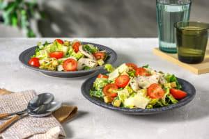 Caesar Salad mit marinierten Hähnchenstreifen image