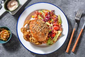 Pain à la carotte et boulettes de poulet à la mexicaine image