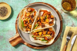 Wraps à l'aigre-douce et tofu mariné image