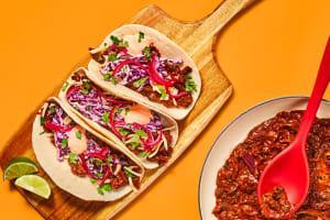One-Pan Smashed Black Bean Tacos image