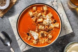 Drie-tomatensoep met zelfgemaakte kaascroutons image