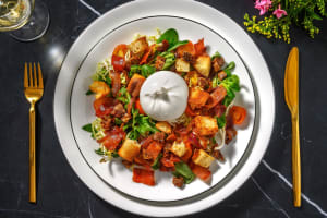 Burrata-salade met krokant gebakken spek image