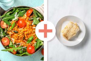 Risotto à la tomate et filet d'églefin en extra image
