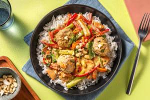 Milde curry met Thais gekruide kipgehaktballetjes image