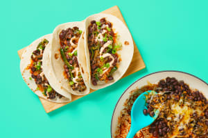 One-Pan Cheesy Black Bean Tacos image