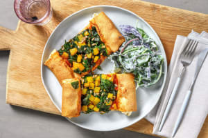 Vegetarische Pide mit Paprika und Spinat image