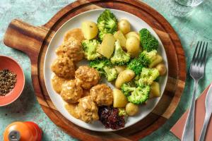 Boulettes de viande à la suédoise en sauce crémeuse image
