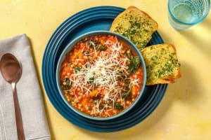 Italiaans gekruide groentestoof met parelcouscous image