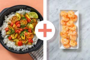 Curry de crevettes en double portion au vadouvan image