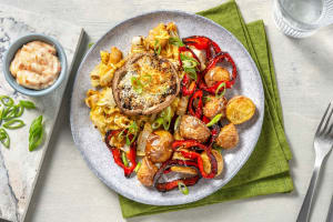 Gefüllter Miso-Portobello auf Asia-Ofengemüse image
