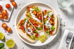 Mini-tortilla's met vegetarische kipstukjes image