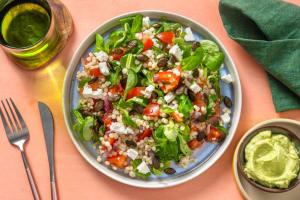 Salade de couscous perlé à l'avocat et fromage grec image