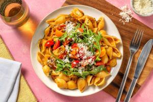 Bruschetta-Pasta mit bunten Kirschtomaten image
