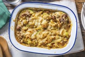 Lasagne en sauce crémeuse et poulet haché en extra image