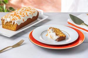 Carrot cake nappé de fromage frais image