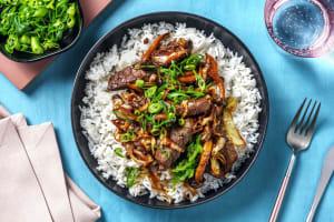 Biefstukreepjes in zoete Aziatische saus image