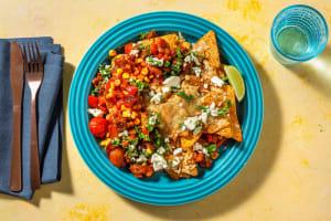 Pittige nachoschotel met gehakt en spekjes image