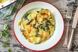 Vegetarische lasagne met courgette en spinazie image