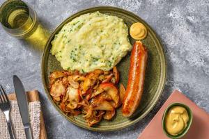 Thüringer Bratwurst mit Apfel-Zwiebel-Gemüse image
