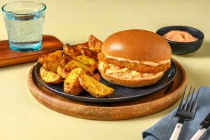 Veganer Sweet-Chili-Burger Chicken Style image