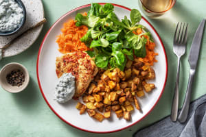 Scharfes Hähnchen mit Karotten-Feldsalat image