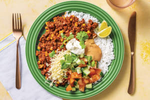 All-American Beef Rice Bowl with Salsa & BBQ Mayo image