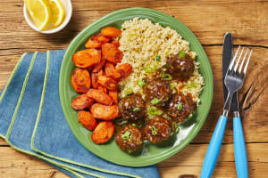 Meatballs with an Apricot Glaze image