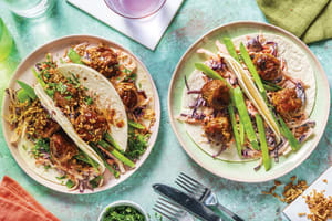 Asian Pork Meatball Tacos image