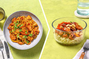 Thai Style Chicken & Bell Pepper Noodle Dinner image