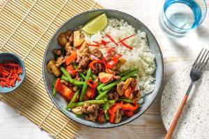 Asiatisches Rindfleisch mit Buschbohnen image