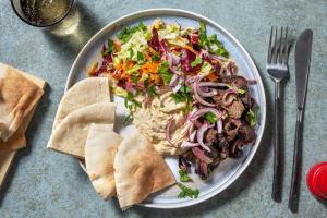 Assiette shawarma de bœuf au ras el-hanout image